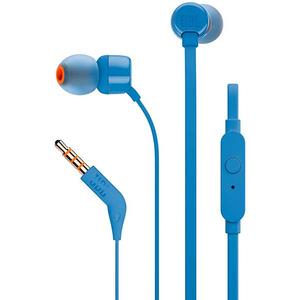 Casti JBL TUNE 110, Cu Fir, In-Ear, Microfon, albastru