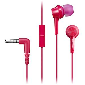 Casti PANASONIC RP-TCM115E-P, Cu Fir, In-Ear, Microfon, roz