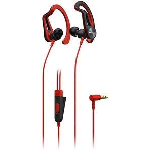 Casti PIONEER SE-E5T, Cu Fir, In-Ear, Microfon, rosu