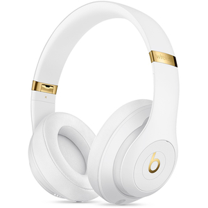 Casti BEATS Studio 3 MQ572ZM/A, Bluetooth, Over-Ear, Microfon, Noise Cancelling, alb