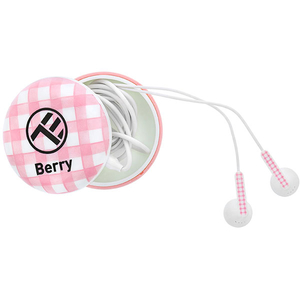 Casti TELLUR Berry TLL162202, Cu fir, In-Ear, Microfon, roz