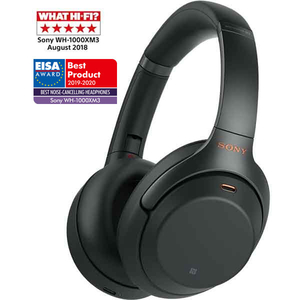Casti SONY WH-1000XM3B, Bluetooth, NFC, On-Ear, Microfon, Noise Cancelling, negru