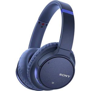 Casti SONY WHCH700NL, Bluetooth, NFC, On-Ear, Microfon, Noise Cancelling, Google Assistant, albastru