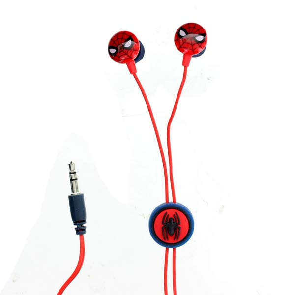 Casti Spiderman 159841, Cu Fir, In-Ear, rosu