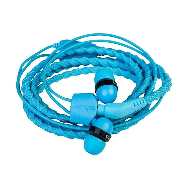 Casti Wraps Talk 159854, Cu Fir, In-ear, Microfon, albastru