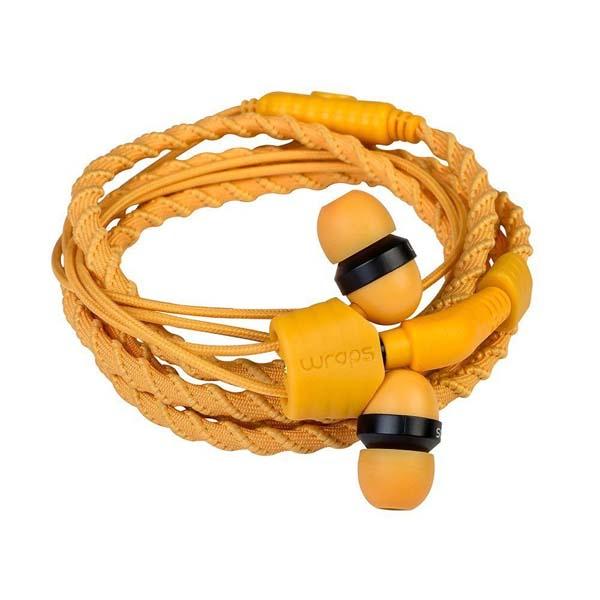 Casti Wraps Talk 159855, Cu Fir, In-ear, Microfon, portocaliu