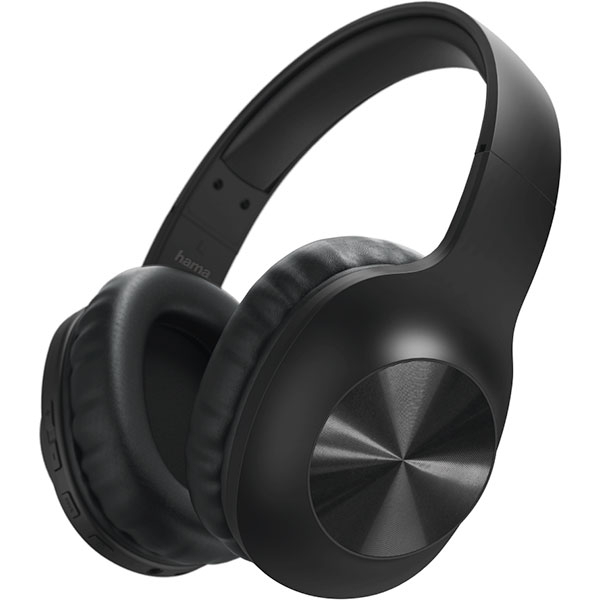 Casti HAMA Calypso 184023, Bluetooth, over-ear, Microfon, negru