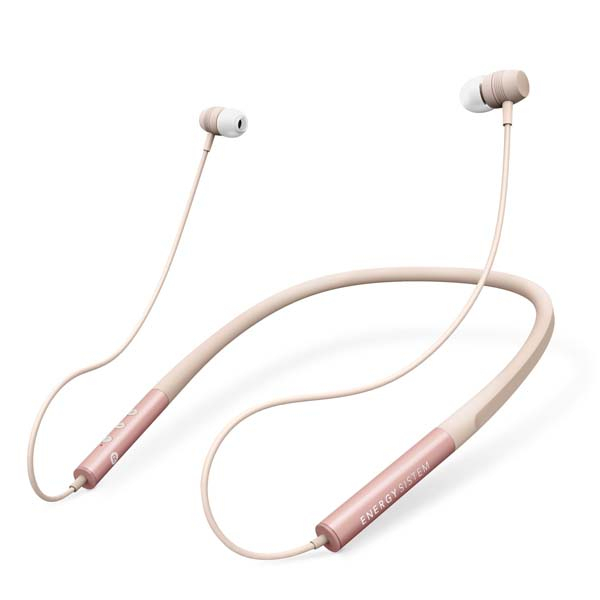 Casti ENERGY SISTEM Neckband 3, ENS445608, Bluetooth, In-Ear, Microfon, roz