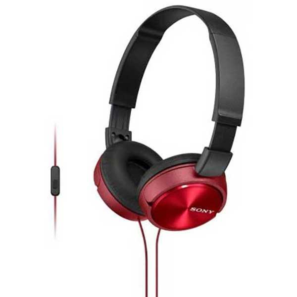 Casti SONY MDR-ZX310APR, Cu Fir, On-Ear, Microfon, rosu