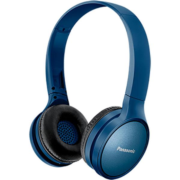 Casti PANASONIC RP-HF410BE, Bluetooth, On-Ear, Microfon, albastru