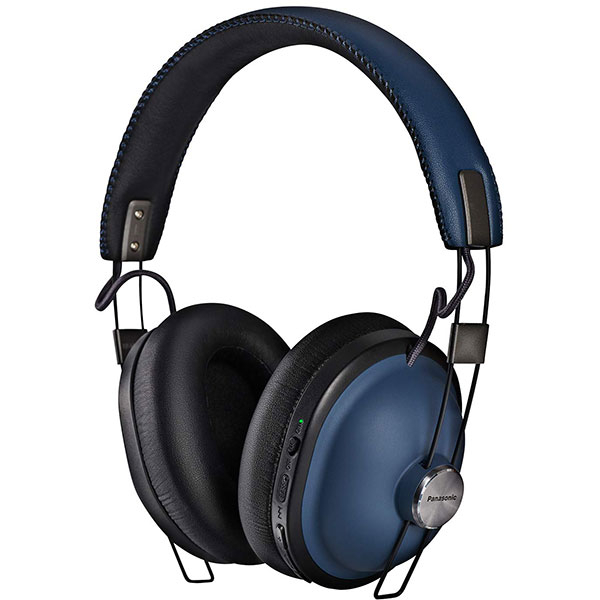 Casti PANASONIC RP-HTX90NE, Bluetooth, On-Ear, Microfon, Noise Cancelling, albastru