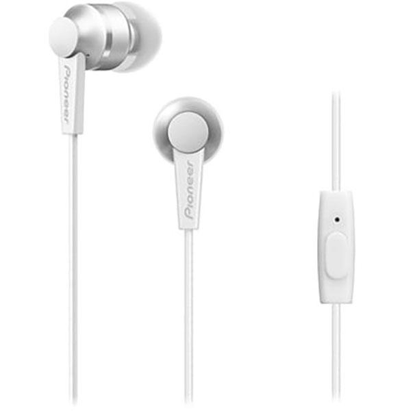 Casti PIONEER SE-C3T, Cu Fir, In-Ear, Microfon, alb