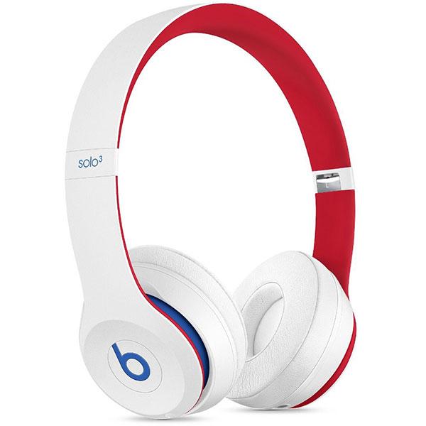 Casti BEATS Solo3 Club Collection, Bluetooth, On-Ear, Microfon, alb-rosu