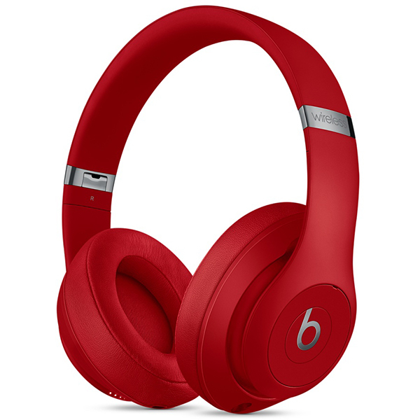 Casti BEATS Studio 3 MQD02ZM/A, Bluetooth, Over-Ear, Microfon, Noise Cancelling, rosu