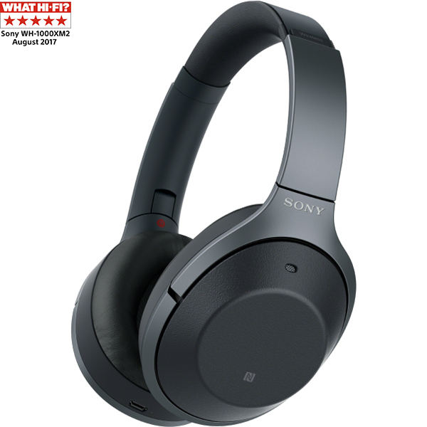 Casti on-ear cu microfon SONY WH1000XM2B, Hi-Res, Bluetooth, NFC, Wireless, Noise cancelling, Negru