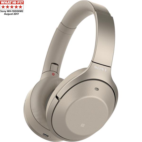Casti on-ear cu microfon SONY WH1000XM2N, Hi-Res, Bluetooth, NFC, Wireless, Noise cancelling, Auriu