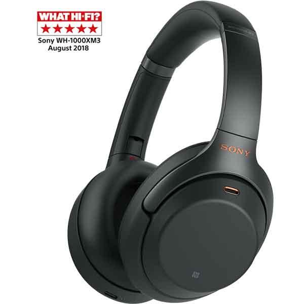 Casti SONY WH-1000XM3B, Bluetooth, NFC, On-Ear, Microfon, Noise Cancelling, negru