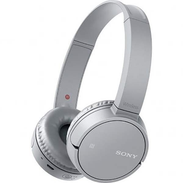 Casti SONY WHCH500H, Bluetooth, NFC, On-Ear, Microfon, gri