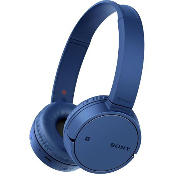 Casti SONY WHCH500L, Bluetooth, NFC, On-Ear, Microfon, albastru