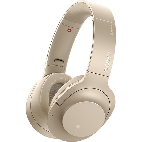 Casti SONY WHH900NN, Bluetooth, NFC, On-Ear, Microfon, Noise Cancelling, Hi-Res, auriu