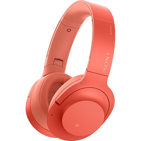 Casti SONY WHH900NR, Bluetooth, NFC, On-Ear, Microfon, Noise Cancelling, Hi-Res, rosu