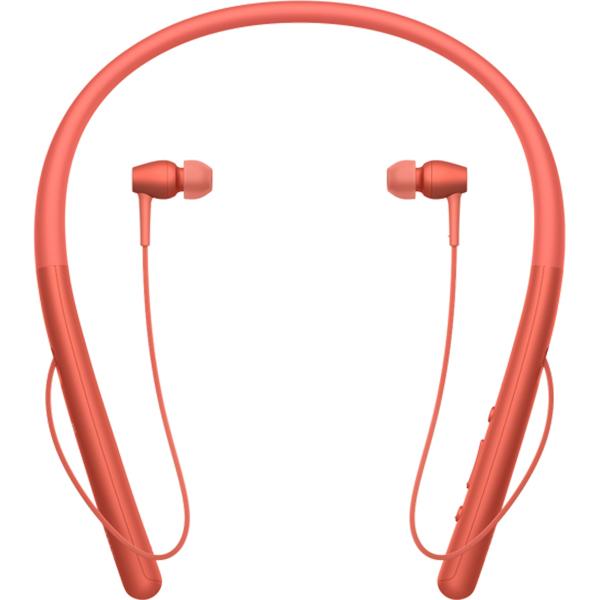 Casti in-ear cu microfon SONY WIH700R, Hi-Res, Bluetooth, NFC, Wireless, Rosu