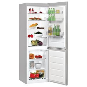 Combina frigorifica INDESIT LR7 S1 S, 307 l, 176 cm, A+, argintiu