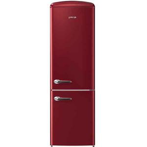 Combina frigorifica Gorenje Retro ONRK193R, No Frost, A+++, 307 l, Afisaj Led, Bordo