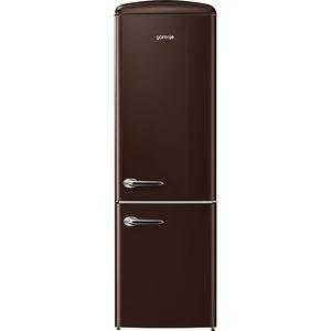 Combina frigorifica Gorenje Retro ORK192CO, Frost Less, A++, 322 l, Control electronic, ciocolata neagra