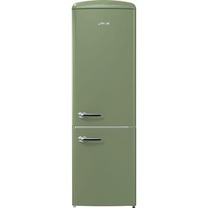 Combina frigorifica GORENJE ORK192OL, 322 l, 194 cm, A++, verde olive