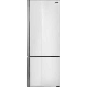 Combina frigorifica SHARP SJ-BA24IMWG2-EU, 437 l, 186.8 cm, A++, sticla alba