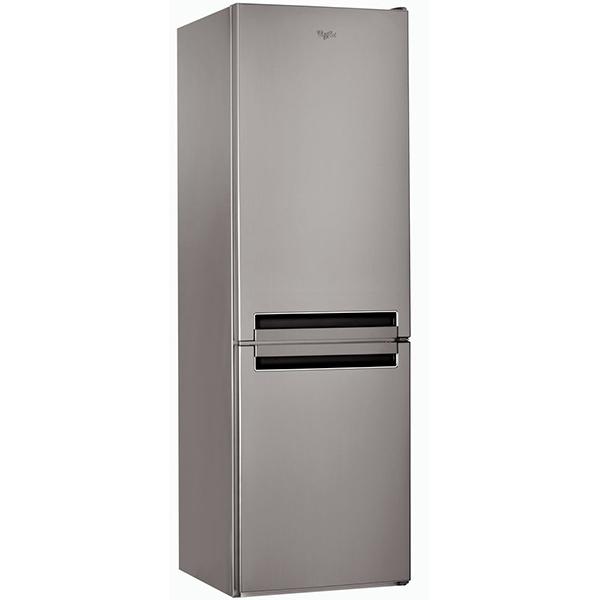 Combina frigorifica WHIRLPOOL BLF 8121 OX, Less Frost, 339 l, H 188.8 cm, Clasa A+, 6th Sense, argintiu