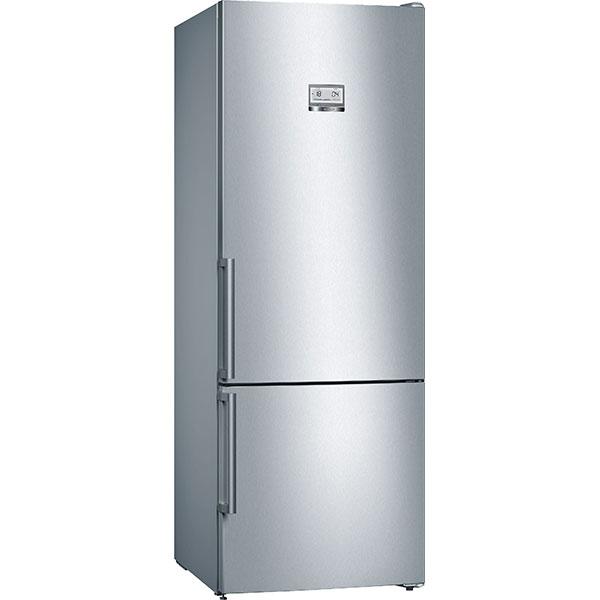 Combina frigorifica BOSCH KGN56HI3P, No Frost, 505 l, H 193 cm, Clasa A++, HomeConnect, inox
