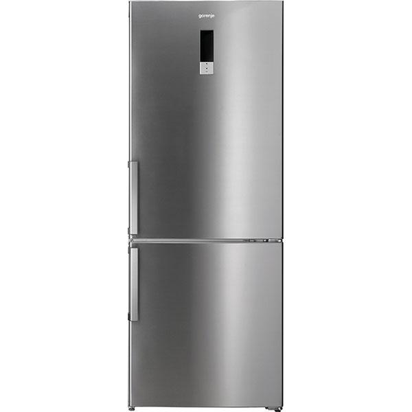 Combina frigorifica GORENJE NRK7191TX, Total NoFrost, 357 l, H 186.8 cm, Clasa A+, argintiu