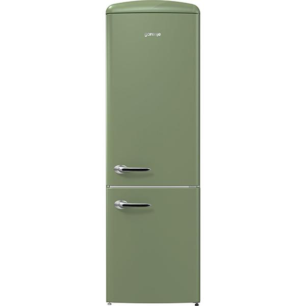 Combina frigorifica GORENJE ORK192OL, FrostLess, 322 l, H 194 cm, Clasa A++, verde olive