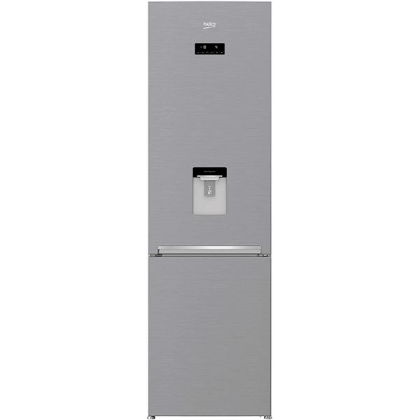 Combina frigorifica BEKO RCNA400E30DZXB, NeoFrost, 351 l, H 201 cm, Clasa A++, dozator apa, argintiu