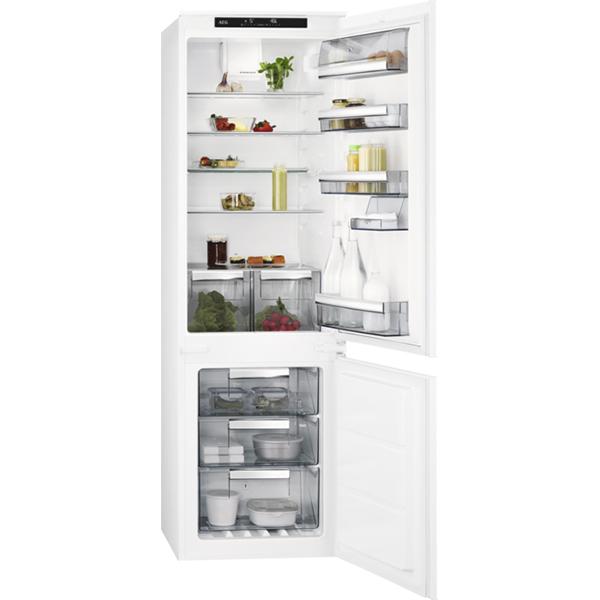 Combina frigorifica incorporabila AEG SCE81816TS, Frost Free, 253 l, H 177.2 cm, Clasa A+, alb
