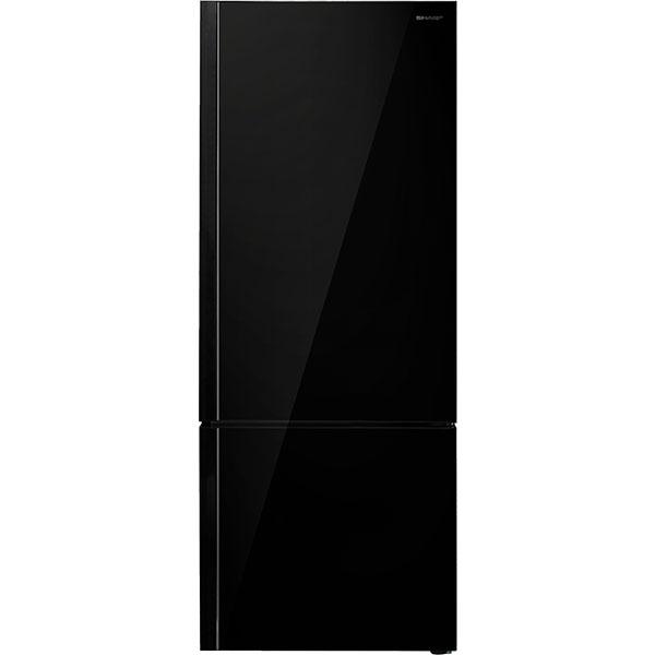 Combina frigorifica SHARP SJ-BA24IMBG2-EU, Advanced NoFrost, 437 l, H 186.8 cm, Clasa A++, sticla, negru