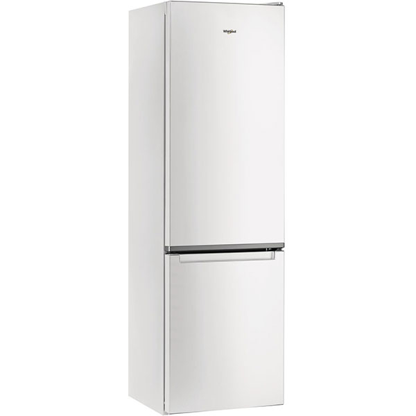 Combina frigorifica WHIRLPOOL W5 911E W, Less Frost, 372 l, H 201.1 cm, Clasa A+, 6th Sense, alb