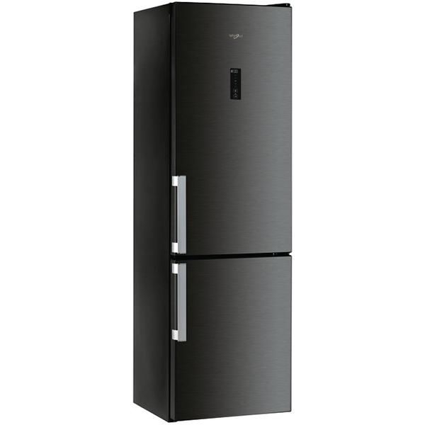 Combina frigorifica WHIRLPOOL WTNF 92O KH, Total NoFrost, 368 l, H 201 cm, Clasa A++, 6th Sense, negru