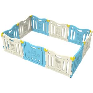 Tarc de joaca DWINGULER Castle Sky Blue BP-002, 0 luni+, alb-bleu