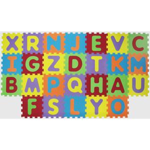 Covoras puzzle cu litere LUDI LUD1054, 10 luni+, multicolor