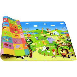 Covor cu 2 fete DWINGULER Playmat Zoo, 190 x 130