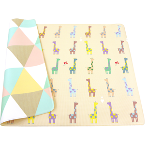 Covor cu 2 fete DWINGULER Playmat Giraffe In Love, 185 x 125