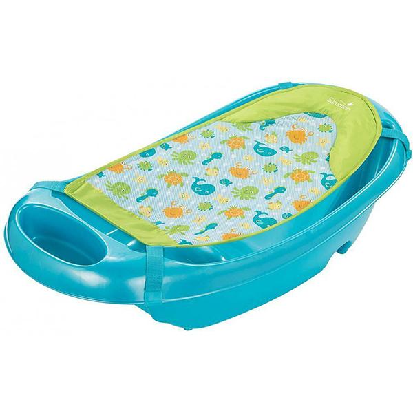 Cadita si suport de baita SUMMER INFANT Splish n Splash Blue, 0 luni - 2 ani, albastru