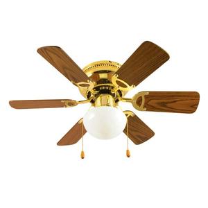 Lustra cu ventilator HOME CF 760 L, 50W, E27, auriu-maro