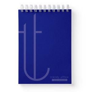 Blocnotes TRENDY, dictando, A5, 70 file, albastru