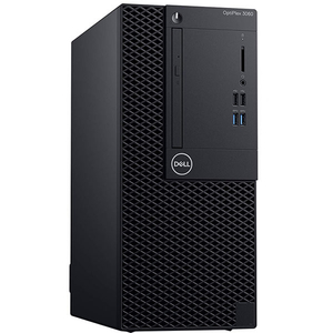 Sistem Desktop PC DELL OptiPlex 3060 MT, Intel Core i3-8100 3.6GHz, 8GB, 1TB, Intel UHD Graphics 630, Windows 10 Pro