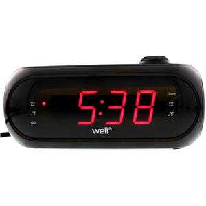Radio cu ceas si proiectie WELL Awake, FM, negru