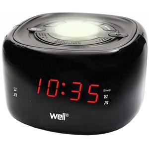 Radio cu ceas WELL Twilight, FM, negru